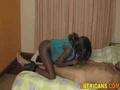Doggy style banging for amateur African hottie
