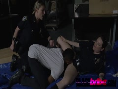 Slutty female cops have huge round asses