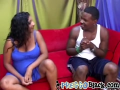 Black dude bangs his preggo ebony girl