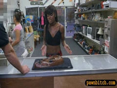 Tight ebony screwed by pervert pawn man at the pawnshop