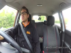 Fat ebony babe bangs her driving instructor