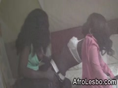 Lesbians Megan and Veronica stripping in bedroom