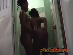 Amazing girls taking shower together