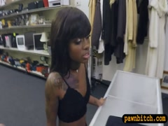 Petite ebony screwed by pervy pawn man at the pawnshop