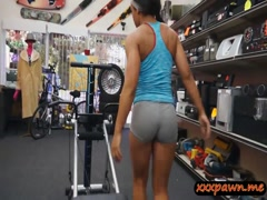 Ebony babe banged by nasty pawn keeper in his pawnshop