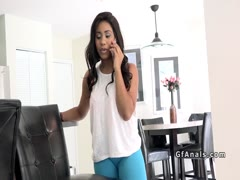 Lucky man anal fucks ebony girlfriend