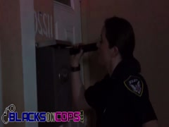 Two cops sharing big black cock