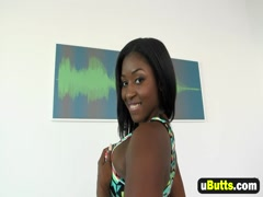Curvy black babe Camille Amore banged by a white stud