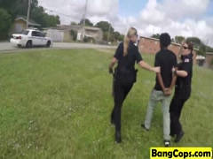 Busty cops riding big black dick