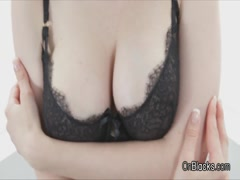 Huge titty blonde ass fucked by big black cock