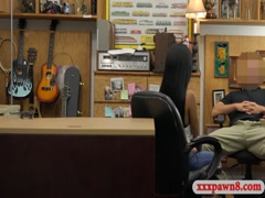 Big tits ebony railed by pervy pawn man at the pawnshop