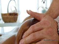 Masseur bangs natural huge tits ebony Milf