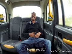 Black guy has luck with female cab driver