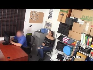 Thicc ebony suspect gets punished hard at the office