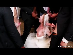 Interracial double penetration for bride
